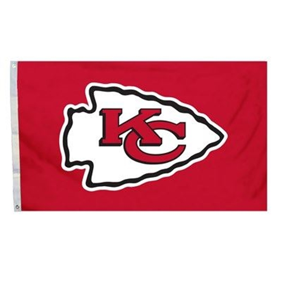 Picture of 3 Ft. X 5 Ft. Flag W/Grommetts Kansas City Chiefs - 94925B